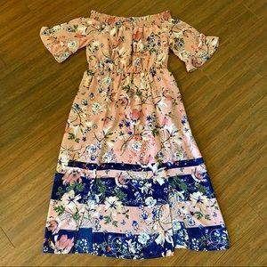 Off Shoulder floral maxi dress NWT